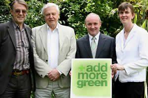 Sir David Attenborough with John Burton, Donal Forde and Jacqui McCrum