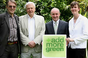 Sir David Attenborough with John Burton, Donal Forde and Jacqui McCrum