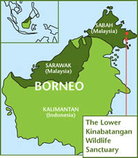 Location of the Borneo project
