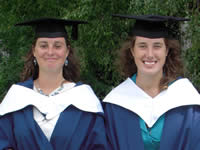 Fiona Duncan and Jo Keene, Diploma graduates in 2009