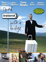Tony Hawks in the Round Ireland with a fridge poster