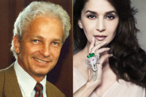 David Gower and Madhuri Dixit