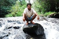Member of the Mbya Guarani community
