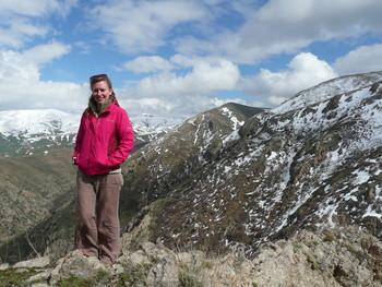 Photograph of Charlotte Beckham in the Caucasus Wildlife Refuge