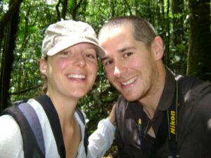 Photograph of Siri Frost and Richard White at Guapi Assu Reserve
