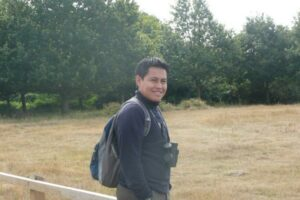 Denis Mosquera at RSPB reserve Minsmere