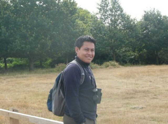 Denis Mosquera at RSPB reserve Minsmere