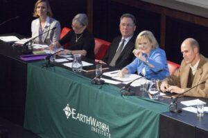 Earthwatch Debate panel members. © Chris Deeney / Earthwatch.