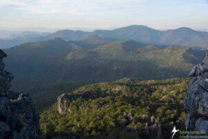 Mountainous landscape.
