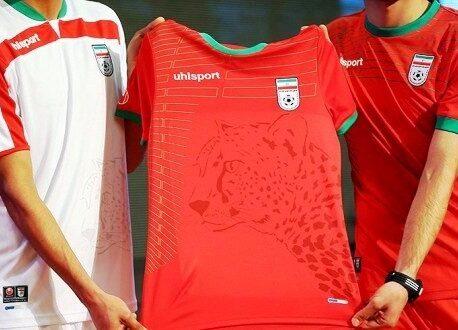 Iranian Cheetah image on football shirt.