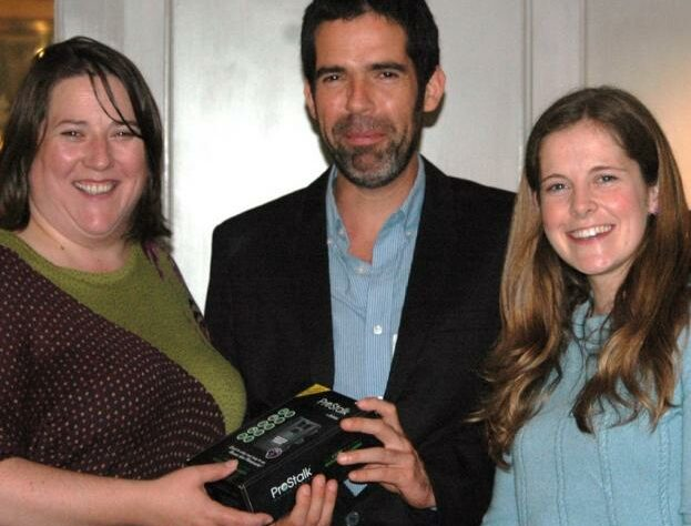 BIAZA staff present a camera-trap to Roberto.