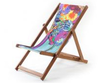 WLT deckchair with tiger-print
