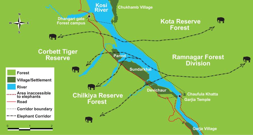 Chilkiya Kota corridor map