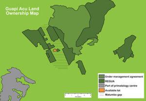 Map showing Matumbo Gap