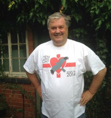 Mark Avery in Hen Harrier Day T-shirt.