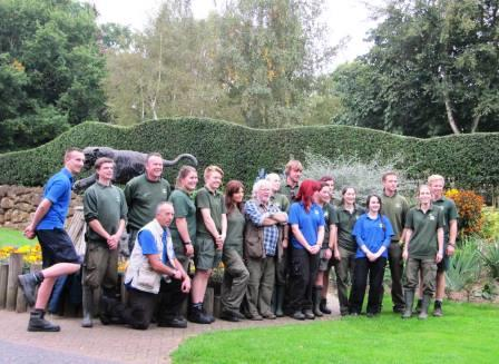 Banham Zoo staff and Bill Oddie.