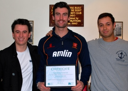 Ollie Stovell, Reece Topley (holding the WLT certificate) and Luke Keeble.