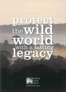 Front cover of WLT's legacy leaflet