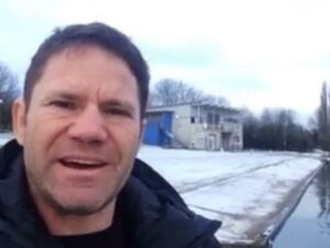 Steve Backshall, screen grab from video message on Facebook.
