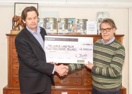 Chris Jenkin  John Burton cheque