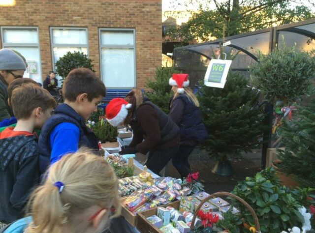 Children at the RPPS Christmas Fayre in 2014.