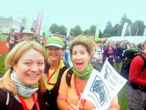 Sue, Lisa and Sarah at Bath Cotswold Way Challenge 2017