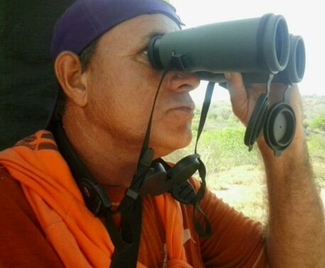 Ranger Pablo Millán using SWAROVSKI OPTIK binoculars