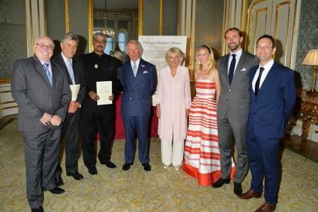 Prince Charles and Camilla with Asian Elephant Alliance representatives.