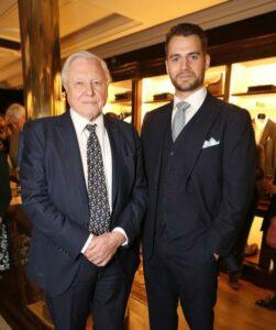Sir David Attenborough at Henry Cavill at the event.