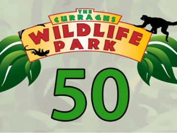 Curraghs wildlife Park 50th logo.jpg