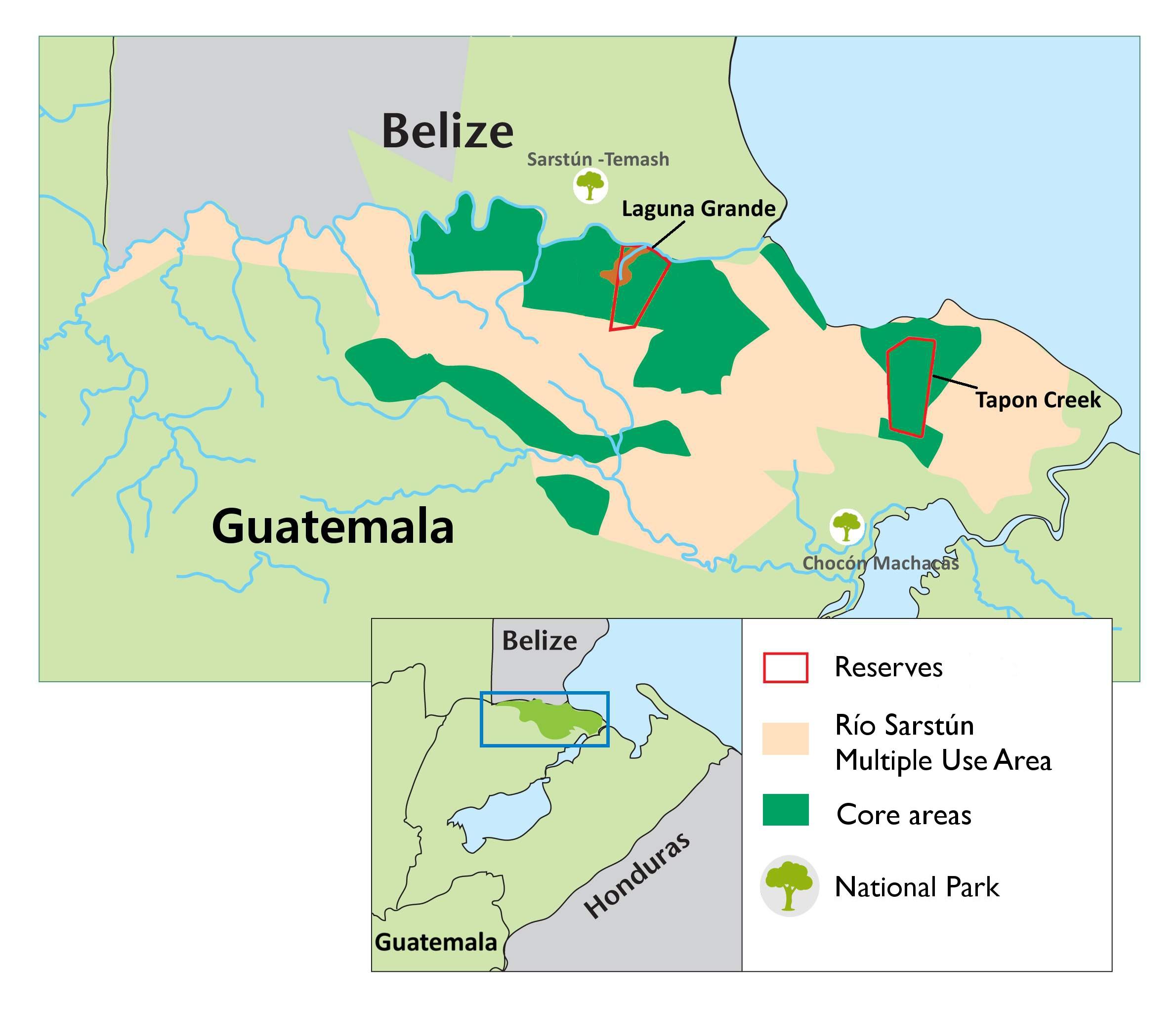 tapon-creek-map
