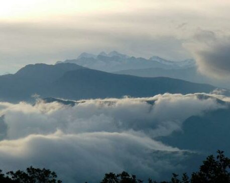 Clouds over mountains in El Dorado Reserve.