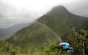 Segunda y Cajas Field Camp and rainbow