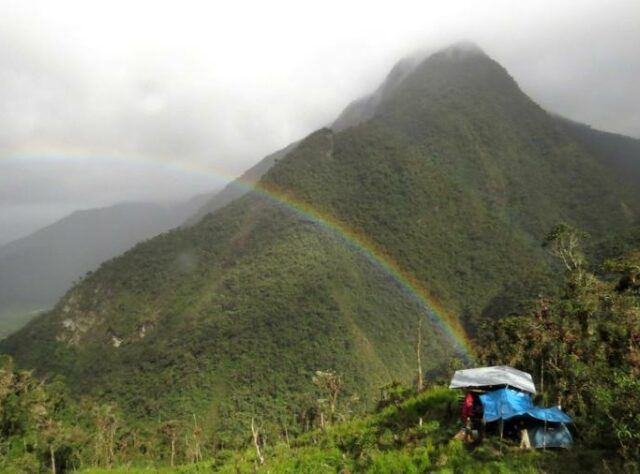 Segunda y Cajas Field Camp and rainbow