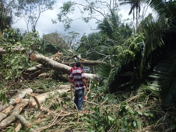 Belize Hurricane damage