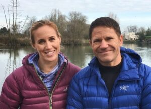 Steve Backshall and Helen Glover