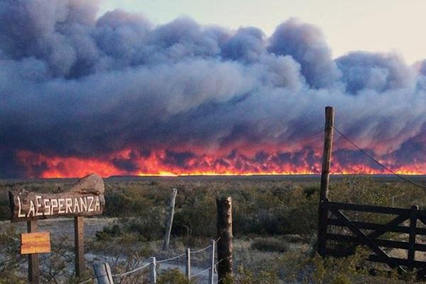 Wildfire in La Esperanza