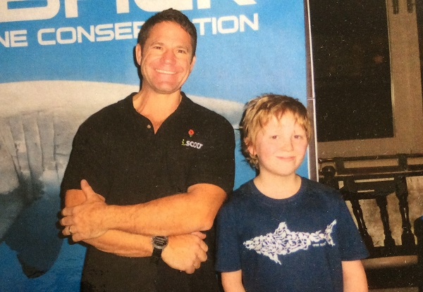 Steve Backshall and George Earnshaw