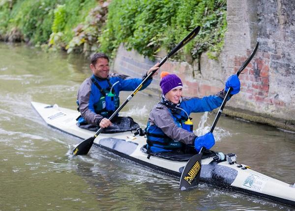 Steve & Helen paddling