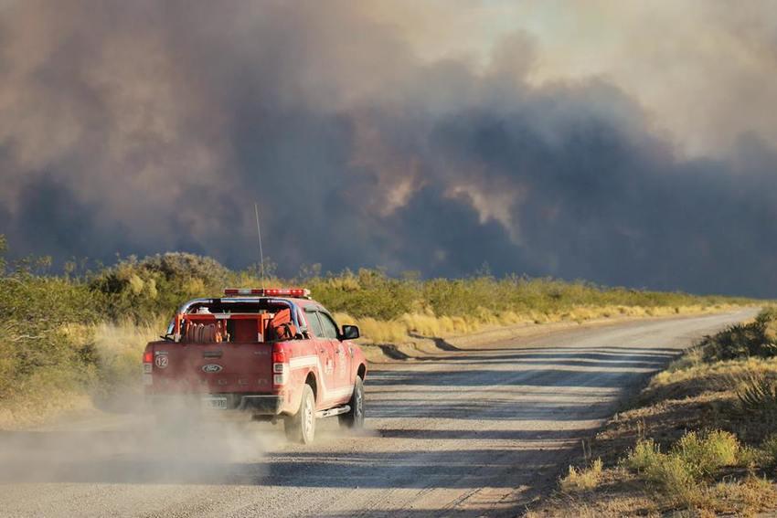 Fire in Estancia la Esperanza.Credit:José Maria Musmeci