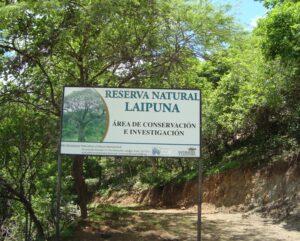 Laipuna Reserve sign, Ecuador