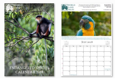 WLT Endangered Species Calendar 2018