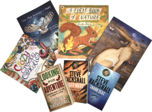 Books by Nicola Davies, Jackie Morris, Kevin Price and Steve Backshall