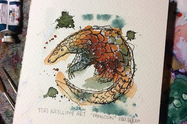 Pangolin artwork, Tori Ratcliffe