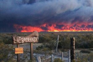 Fire in the Patagonian Steppe, Argentina