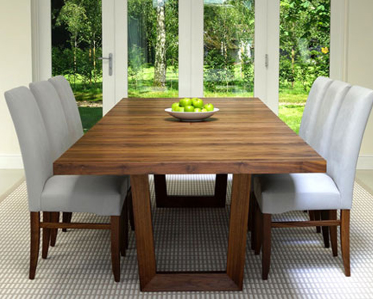 Berrydesign's Brunel Extending Dining Table in solid walnut
