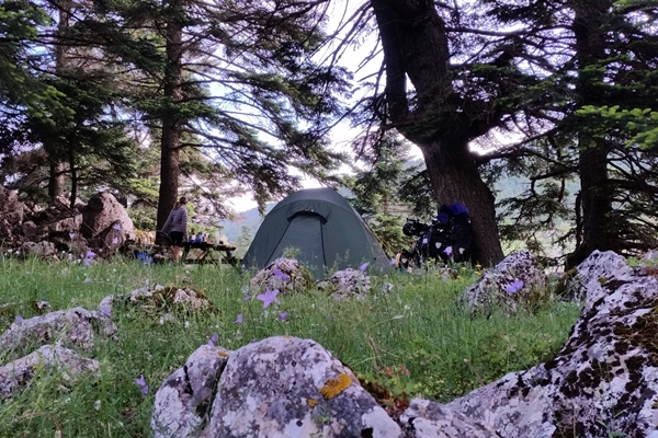Wild camping in Greece