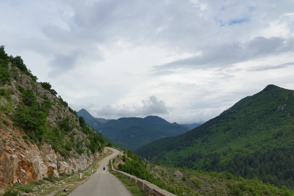 Albania road with mountains