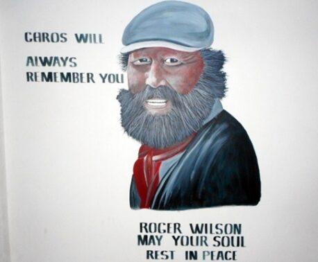 Roger Wilson mural in Garo Hills, India