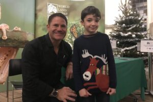 There was an opportunity at the end for the audience to meet the speakers, a highlight for many, including 8 year old Lawrence, who was thrilled to meet his hero Steve Backshall. Image: WLT